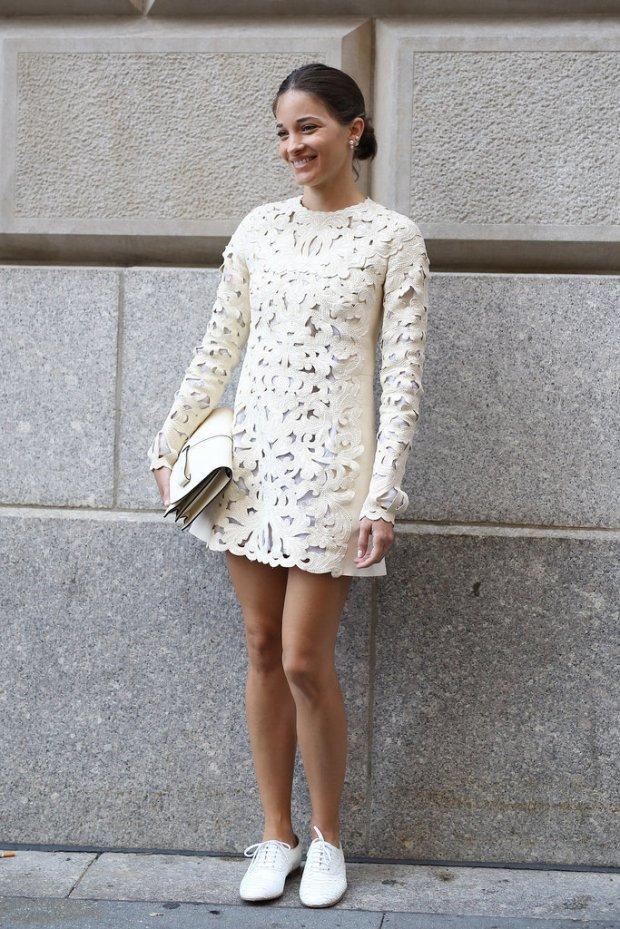 en-iyi-sokak-stilleri-2014-Maria-Duenas-Jacobs-perfected-boy-meets-girl-look-lacy-white
