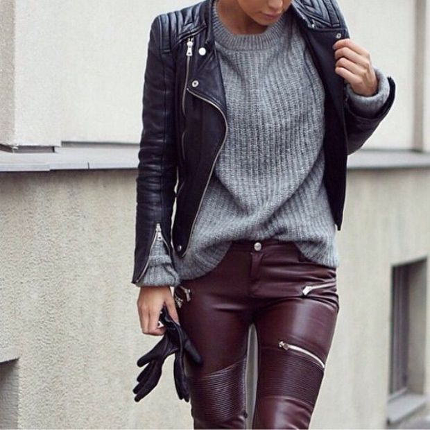 deri-pantolon-kombinleri-sokak-stilleri