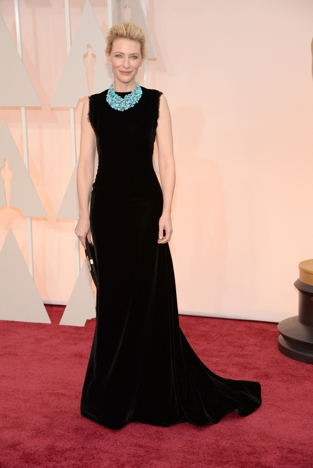Cate Blanchett, in Maison Margiela, with Tiffany & Co. jewels