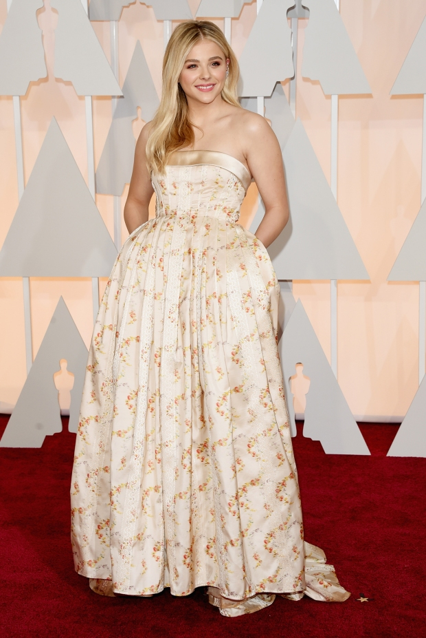 Chloë Grace Moretz, in Miu Miu, with Forevermark jewels