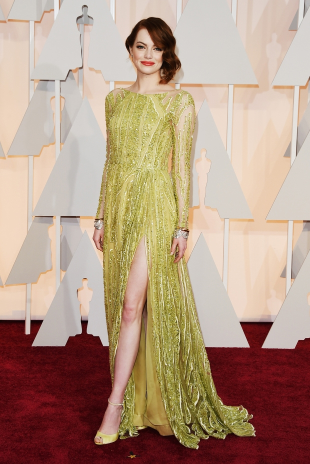 Emma Stone, in Elie Saab Haute Couture