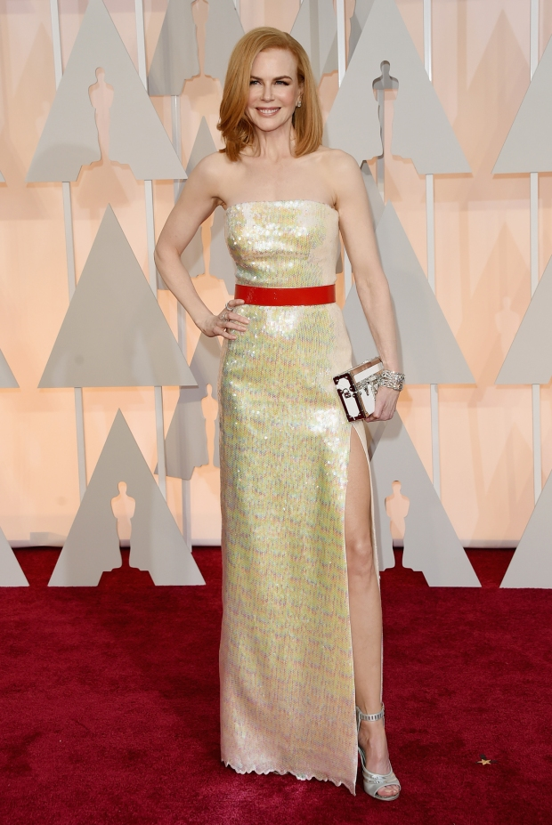 Nicole Kidman, in Louis Vuitton, with Harry Winston jewels