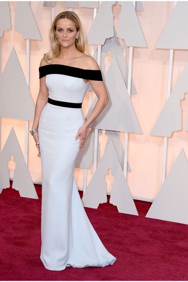 Reese Witherspoon, in Tom Ford, with Tiffany & Co. jewels